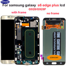 For Samsung Galaxy S6 Edge PLUS G928 G928F G928G LCD Display Touch screen With frame Digitizer Assembly For Samsung G928T G928A(China)