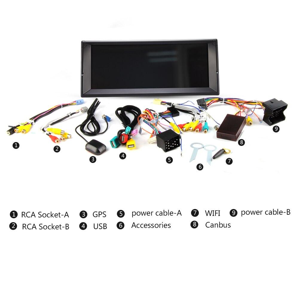 Eunavi 1 Din Octa Core Android 8.0 Radio GPS système stéréo pour BMW E39 X5 E53 10.2 ''lecteur multimédia de voiture 3G 4G WIFI écran IPS - 5