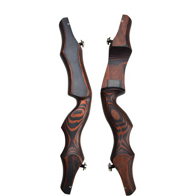 19″ Wooden ILF Archery Bow Riser Handle Takedown American Recurve Bow Handle Right Hand For Outdoor Hunting Shooting Accessories