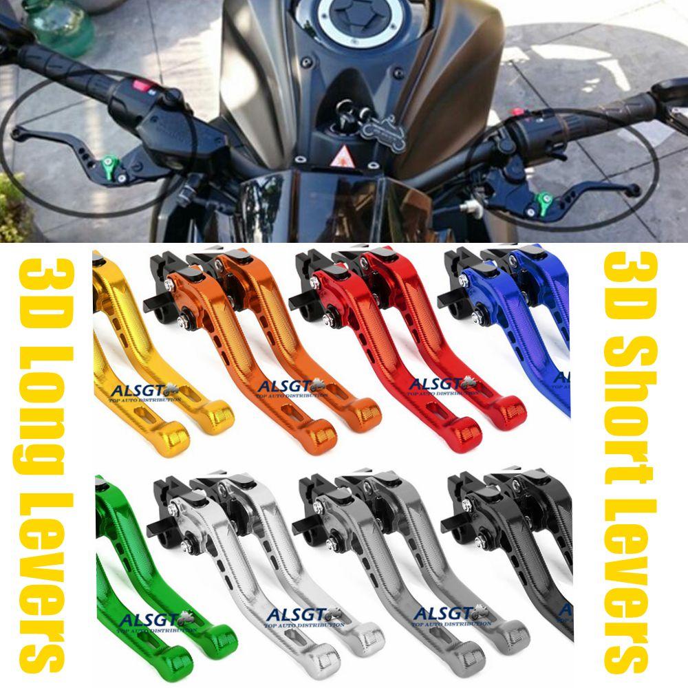 For Suzuki SFV650 GLADIUS  DL650/V-STROM Adjustable CNC Motorcycle 3D Long/ Short Levers Moto Clutch Brake Levers 2 Style