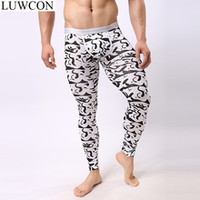 LUWCON Autumn Winter Warm Men's Long Johns Thin Modal Mens Warm Thermal Underwear Underpants For Men Thermal Long Johns