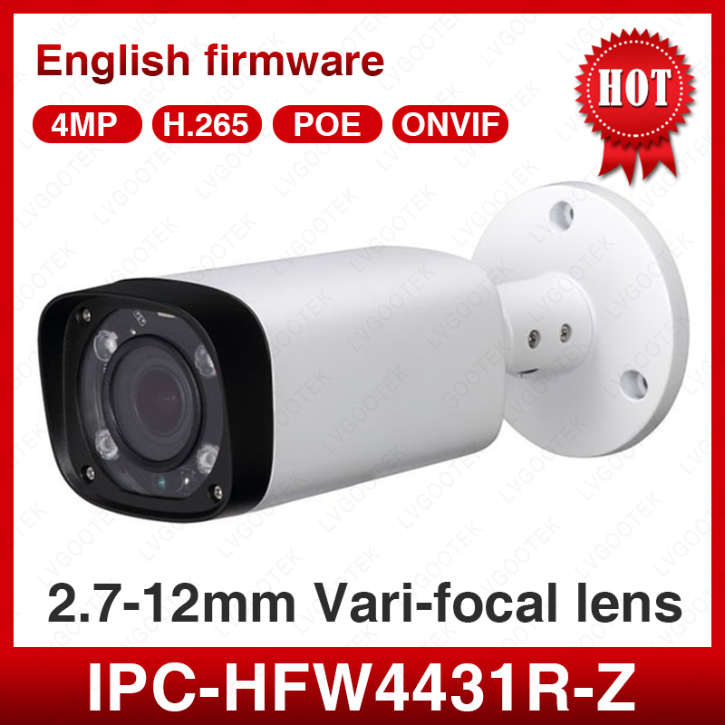 Dahua IPC-HFW4431R-Z 2.8mm ~ 12mm objectif motorisé varifocal 4MP caméra réseau prise en charge 80m IR gamme balle ip caméra extérieure