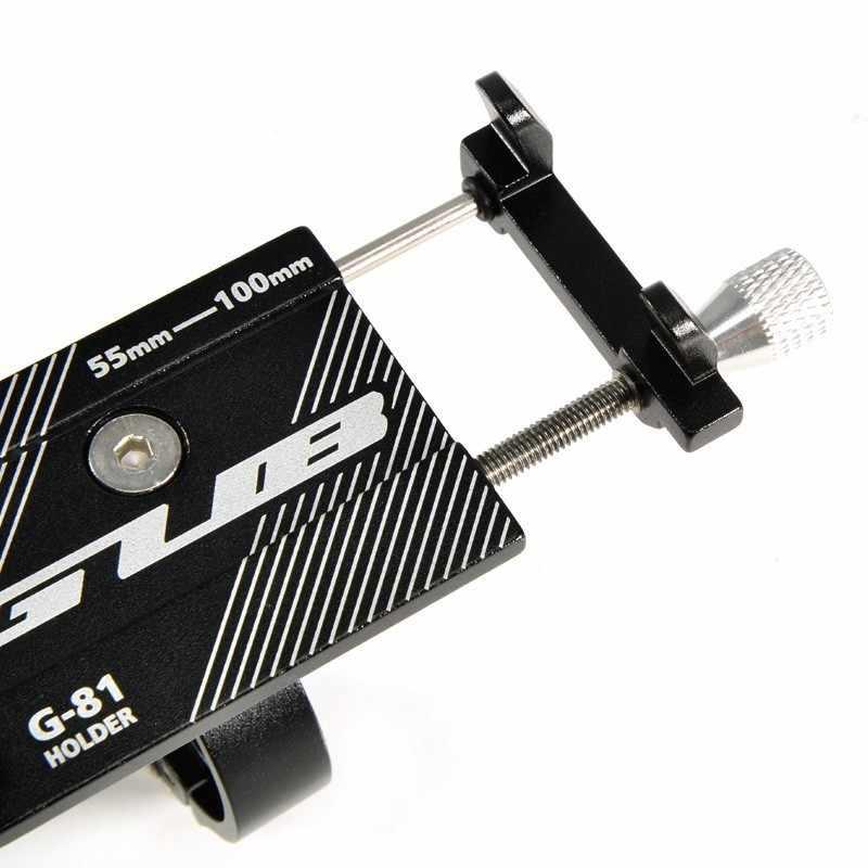 GUB G81 G-81 อลูมิเนียมผู้ถือจักรยานสำหรับสมาร์ทโฟน 3.5-6.2 นิ้วปรับสนับสนุน GPS จักรยานโทรศัพท์ MOUNT วงเล็บ