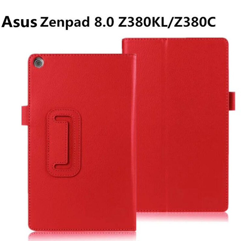 For Asus ZenPad 8 8.0 inch Z380 Z380C Z380M Z380KL Tablet Case Fashion Bracket Flip Leather Cover чехол asus для планшетов zenpad 8 pad 14 полиуретан поликарбонат белый 90xb015p bsl320