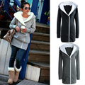 2017 New Ladies Collar Hooded Coats for Warm Winter Women Long Jacket with Zips on left side -2021