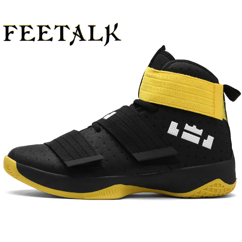 2016 Men High Top Basketball Shoes Sneakers Black/Red/Yellow Basketball Sports Shoes Men Leahter Sport Gym Boots Athletic Shoes peak sport men outdoor bas basketball shoes medium cut breathable comfortable revolve tech sneakers athletic training boots