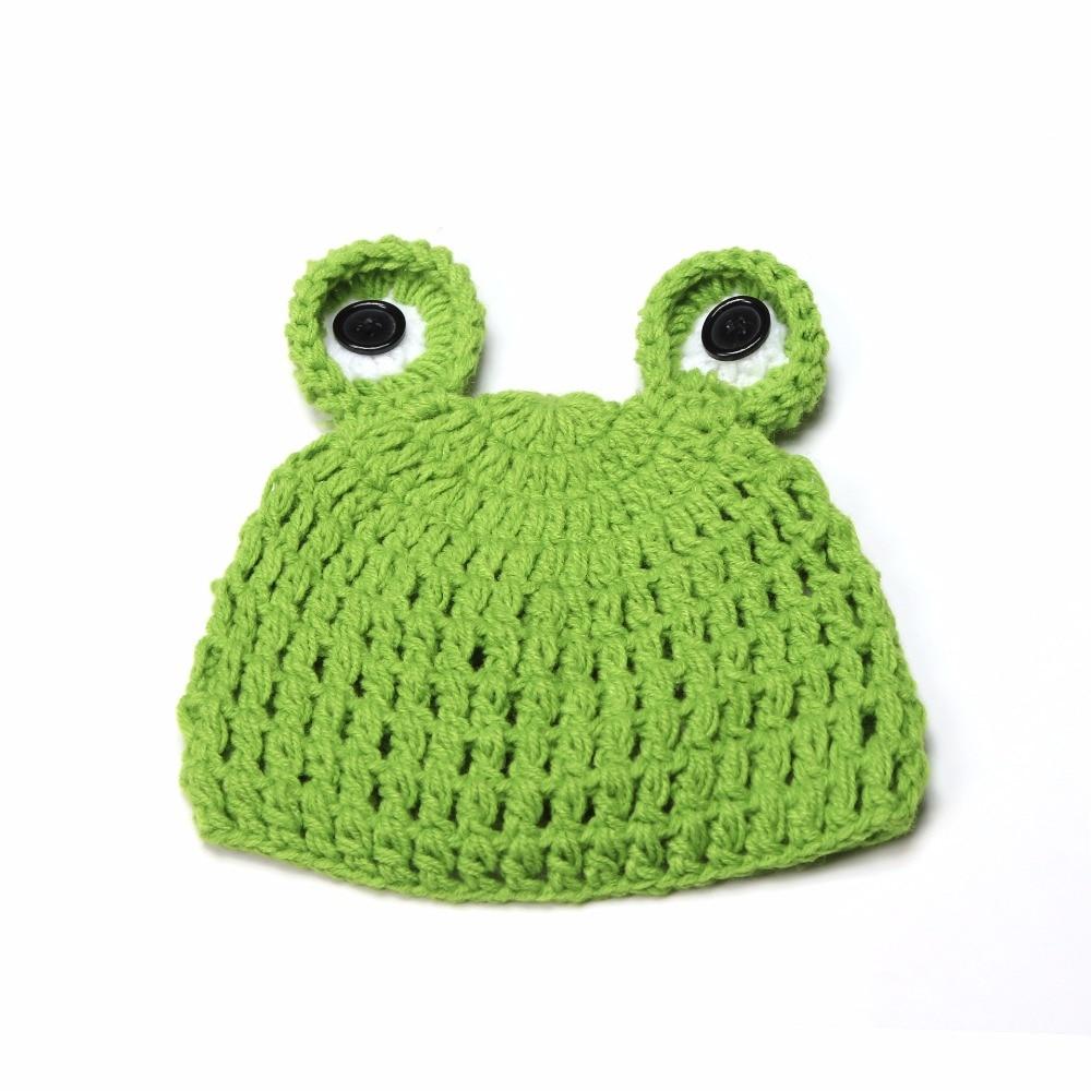 e8da26437 Buy New Baby Boys Knitting Hat Kids Infant Winter Wool Cartoon Frog ...