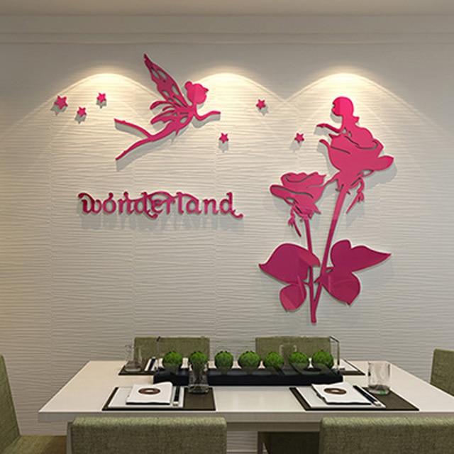 Wonderland Elf Flower Fairies Projekt Akrylowe Naklejki Scienne