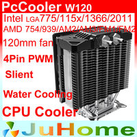 12cm Fan 5 Heatpipe Tower Side Blown OC3 Hybrid Water Air CPU Cooler LGA2011 1156 1155