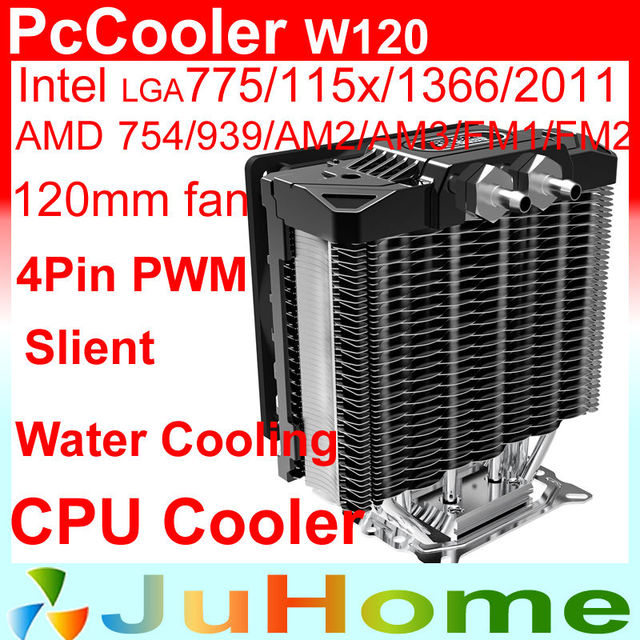 support Water cooling, 120mm fan, 5 heatpipe, Air cooling for Intel LGA2011/115x/1366, for AMD All platforms, PcCooler W120