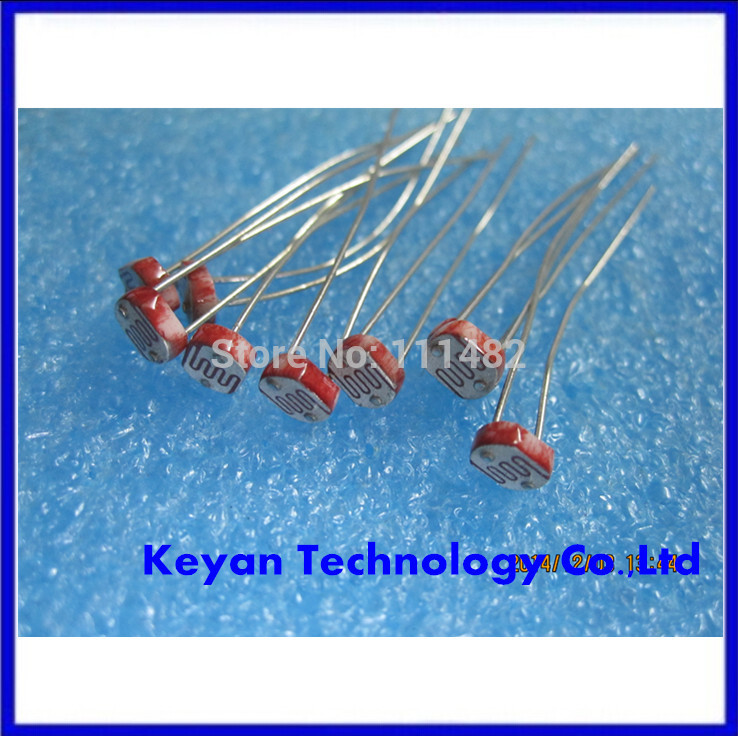20PCS GL5516 5516 Light Dependent Resistor LDR 5MM Photoresistor-in ...