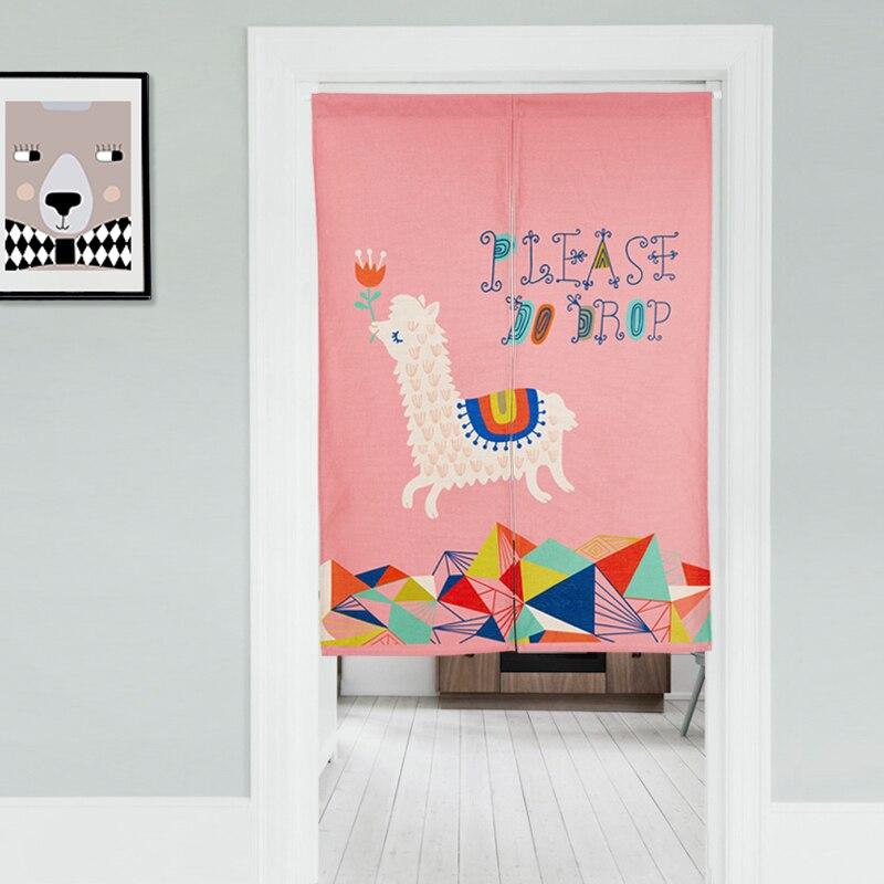 Alpaca Linen NOREN Japanese Style Door
