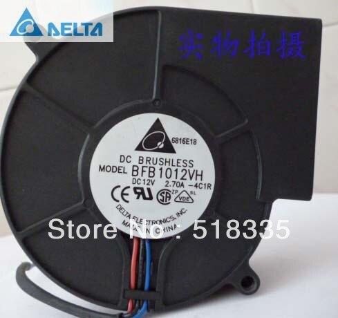 Delta BFB1012VH  9CM 9733 12V 2.70A 3-wire 3P Server Inverter Cooling fan Turbo blowers delta 12038 12v cooling fan afb1212ehe afb1212he afb1212hhe afb1212le afb1212she afb1212vhe afb1212me