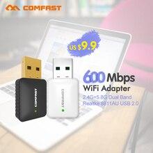 COMFAST CF-915AC 802.11AC USB Adaptador WiFi de Banda Dual 2.4 + 5G Wifi de la Antena Tarjeta de Red Inalámbrica MINI-AC600 Adaptador Wi Fi Receptor