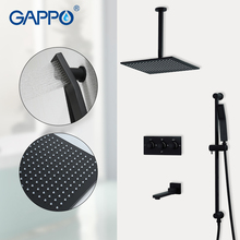 GAPPO Shower faucets black bath mixer faucet waterfall bathroom mixer  rainfall bath set shower faucet 3 function shower mixer xoxo free delivery of bathroom faucet tropical shower bath shower bath mixer shower faucet x2263