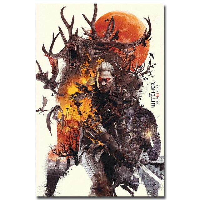Шелковый Плакат Гобелен Ведьмак 3: Дикая Охота Вариант 4