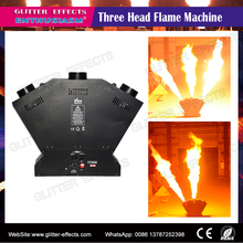 DJ Stage multi jet fire Effect triple head spray sculpt flame projector for disco party night club