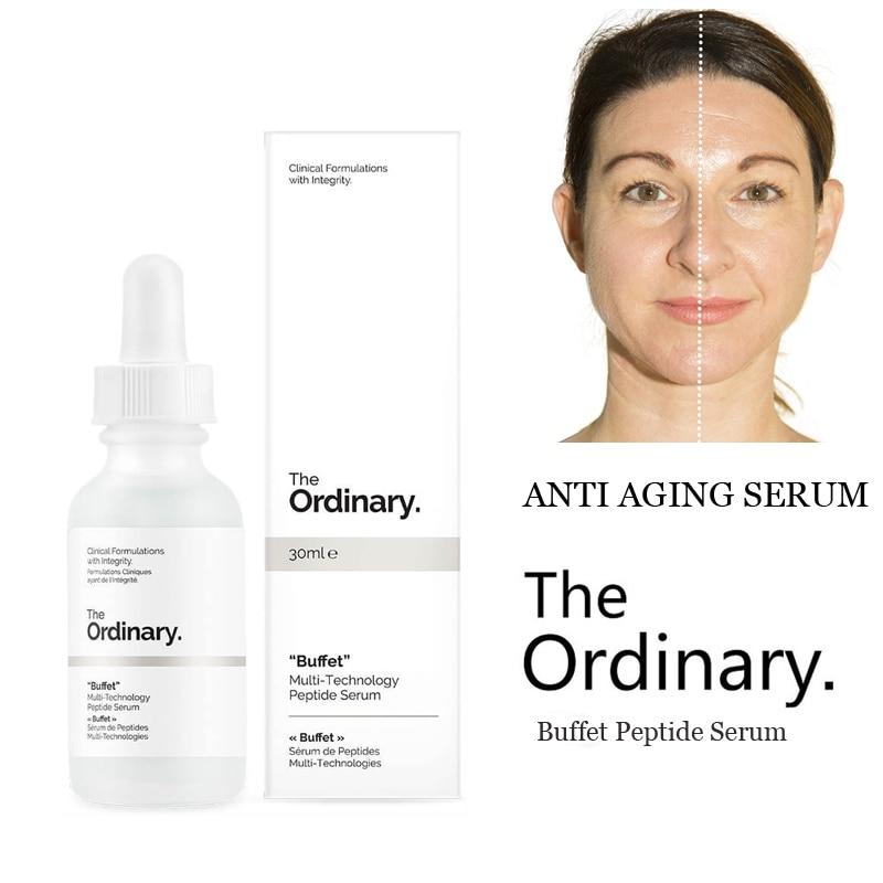 The Ordinary Buffet  Peptide Serum 30ml Multi-TechnologyTarget Anti Aging Face Serum Firming Anti Wrinkle