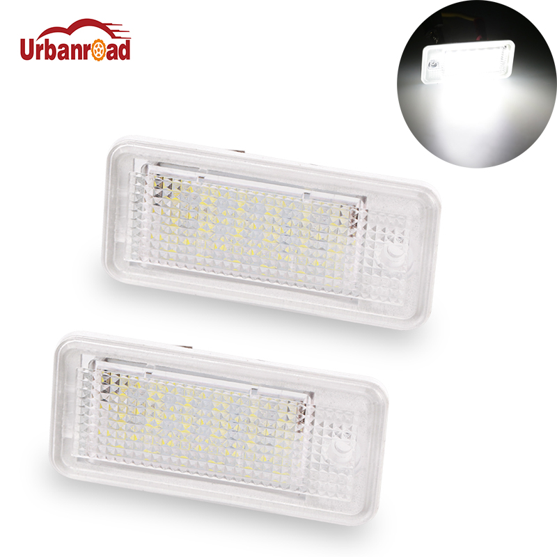 2pcs/pair Led License Plate Lamp For Audi License Plate Light 12V White 6000K For Audi A3 S3 A4 S4 B6 B7 A6 C6 S6 A8 S8 RS4 Q7 white car no canbus error 18smd led license number plate light lamp for audi a3 s3 a4 s4 b6 b7 a6 s6 a8 q7 147 page 8