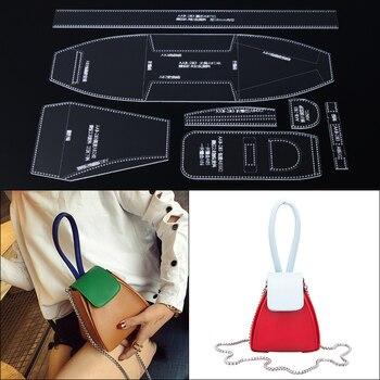 edc1157e9 1 set hombro bolso mujer bolso plantilla acrílico transparente de cuero  patrón de bricolaje Leathercraft patrón