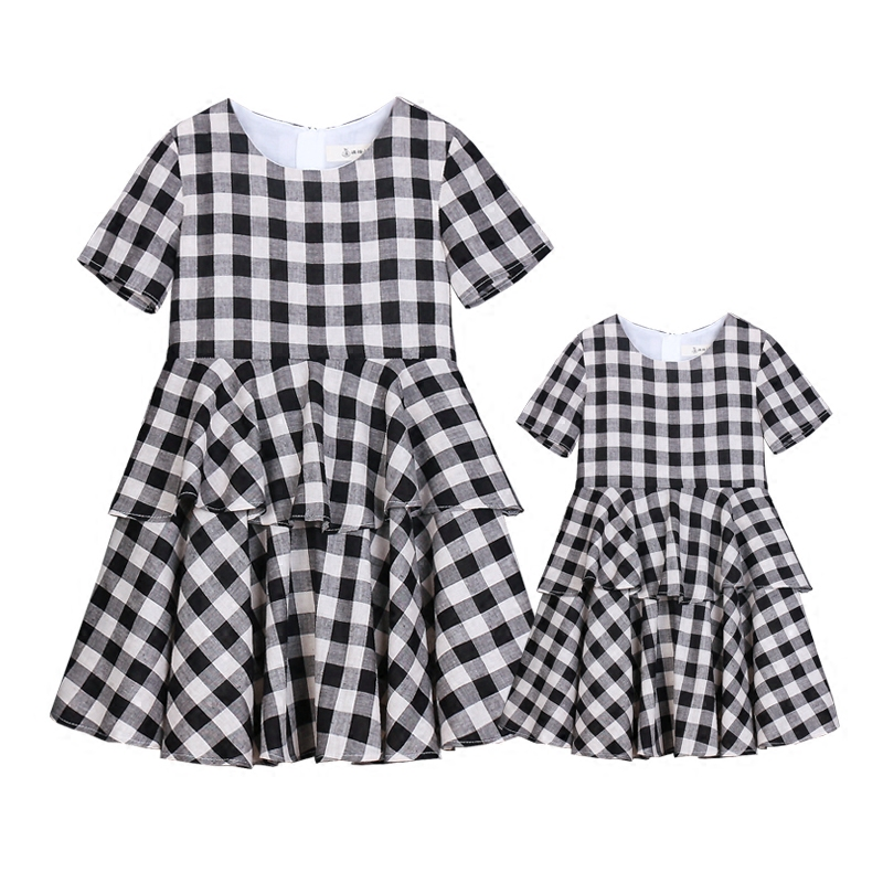 Summer children clothes XL women lady family matching clothes mother daughter dresses infant kids mom baby girls 24M - 15Y dress 2017 summer children clothing mother and daughter clothes xl xxl lady women infant kids mom girls family matching casual pajamas