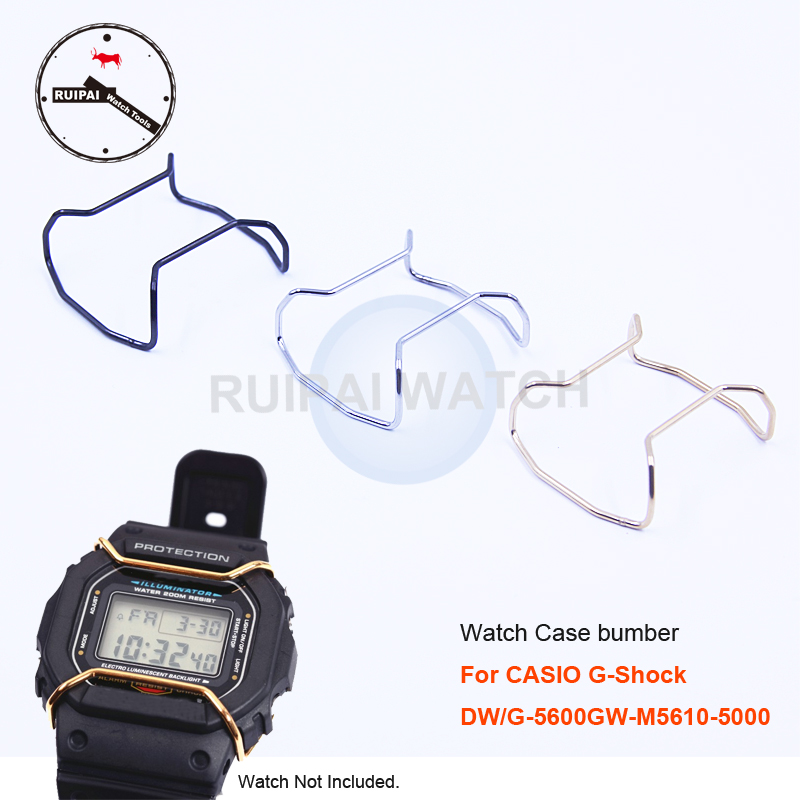 Watch Case Protection Ring Stainless Steel Golden Silver Bla
