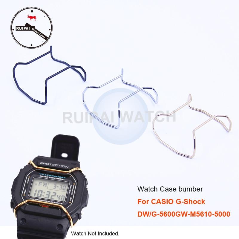 Caja de reloj anillo de protección Acero inoxidable oro plata negro caja de reloj accesorios de parachoques para G-SHOCK DW/G-5600GW-M5610-5000