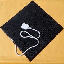 Caliente 4.5 w 6 v célula solar diy cargador solar para el teléfono móvil/cargador de batería del banco móvil mono panel solar envío gratis