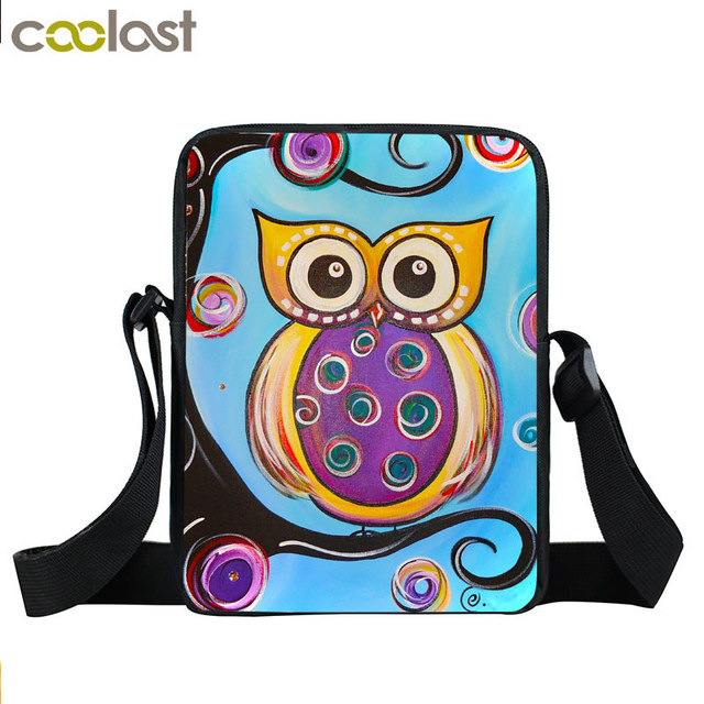 Us 7 75 39 Off Animal Bird Parrot Owl Mini Messenger Bag Women Handbag Kids Crossbody Children School Bags Boys S Best Gift In