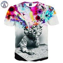 2017 Mr.1991INC New Fashion T-shirt Men/Women Short Sleeve 3d T-shirt Print Thinker Art Men Summer T shirt Tops Tees Plus 3XL 4X