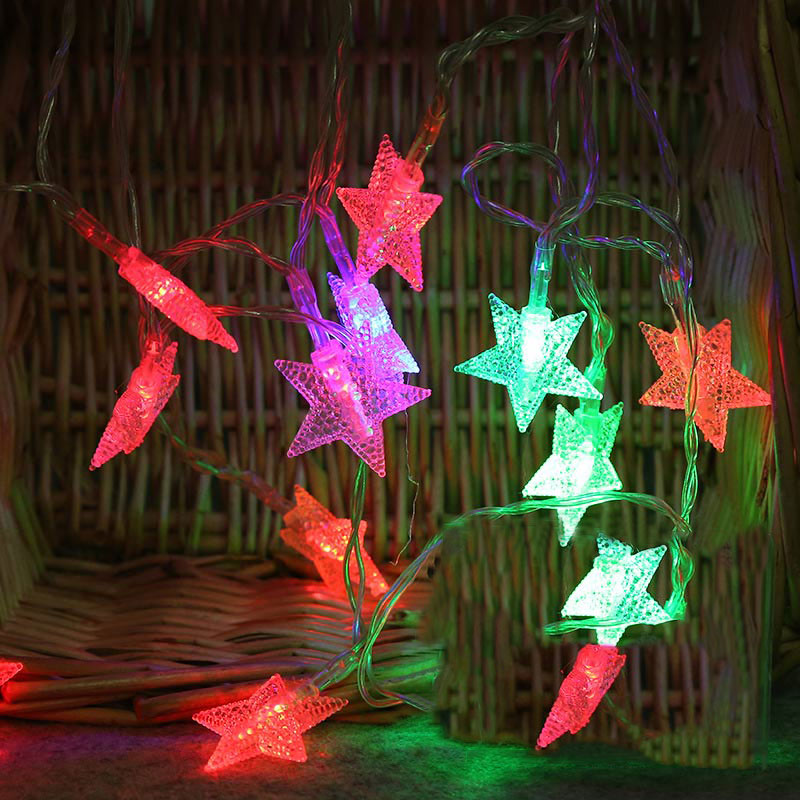 EU Plug /US Plug 10M 100LED Fairy Star Curtain String Light Xmas Garland Light For Wedding Party Holiday Decor @8 JDH99