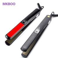 LCD Display Titanium Plates Flat Iron Straightening Irons Styling Tools Professional Hair Straightener EU US