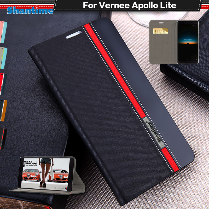 Book Case For Vernee Apollo Lite Flip Case Luxury Vintage Pu Leather Wallet Phone Bag Case For Vernee Apollo Lite Business Case