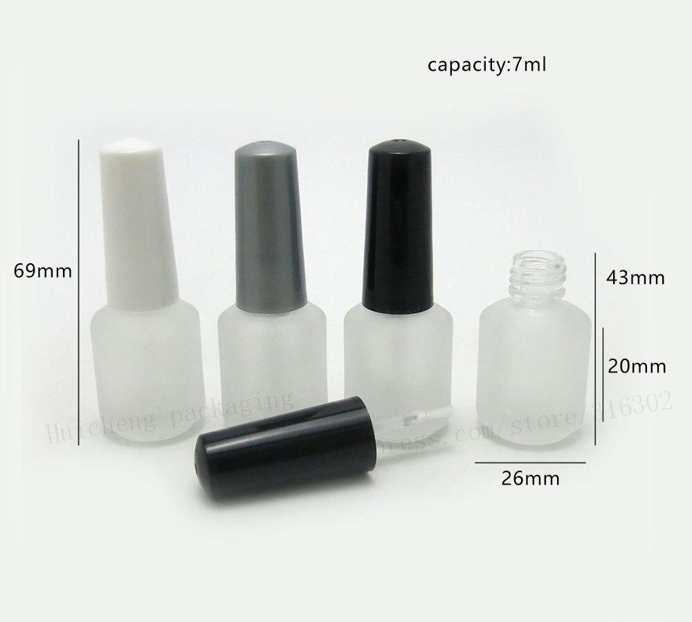 Lot of 500pcs 7ml Empty Frost Nail Polish Glass Bottle 7cc Nail ...