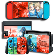Game Breath of the Wild Nintendo Switch NS Console + Controller + Stand Holder Protective Film