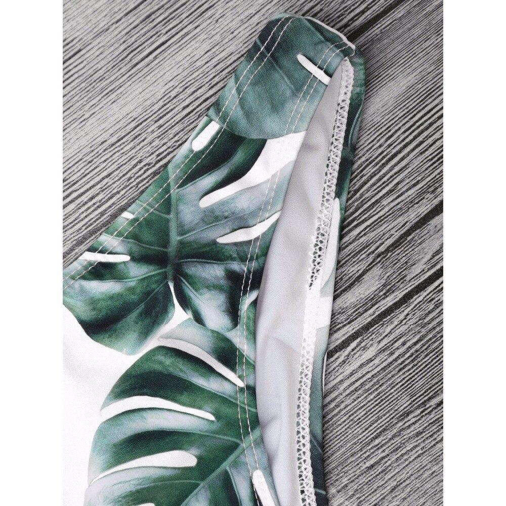 ZAFUL Sexy Brazilian Bikini Set Swimwear Women Swimsuit Bathing Suit Cami Palm Leaf Print Biquini Swim Suit Maillot De Bain 5