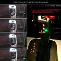 LHD Automatic LED Gear Shift Knob Shifter Lever for E46 E60 E61 E63 E64 Automatic Shift Knob Car Accessories