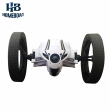 1/10 Intelligent Bounce Remote Control 803 RC Car Creative Electric 2.4GHz 4CH Impact Resistant Bounce Stunt Car with LED Lights