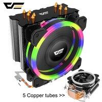 darkFlash Aigo 5 Heatpipes CPU cooler for AMD Intel 775 1150 1151 1155 1156 CPU radiator 120mm CPU fan PC quiet Computer Cooling