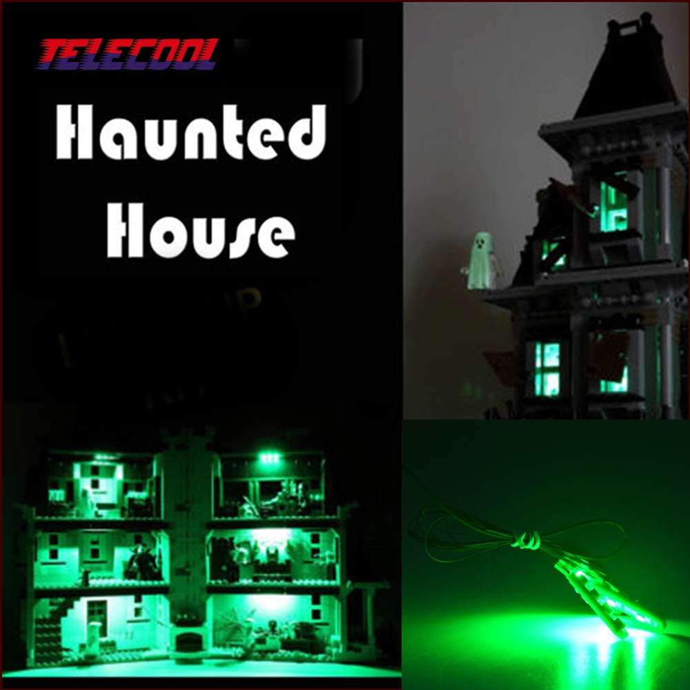 LED Light Block kit (Only light set) For City Monster Fighter Haunted House Model Building Model 10228 and Lepin 16007 in stock new lepin 16007 2141pcs monster fighter the haunted house model set building kits model compatible with10228