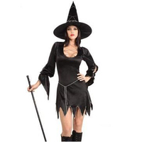 Chic Black Hollow Witch Dress Halloween Women Black Sleeping Beauty Witch Queen Costumes Carnival Party Cosplay Fancy Dress