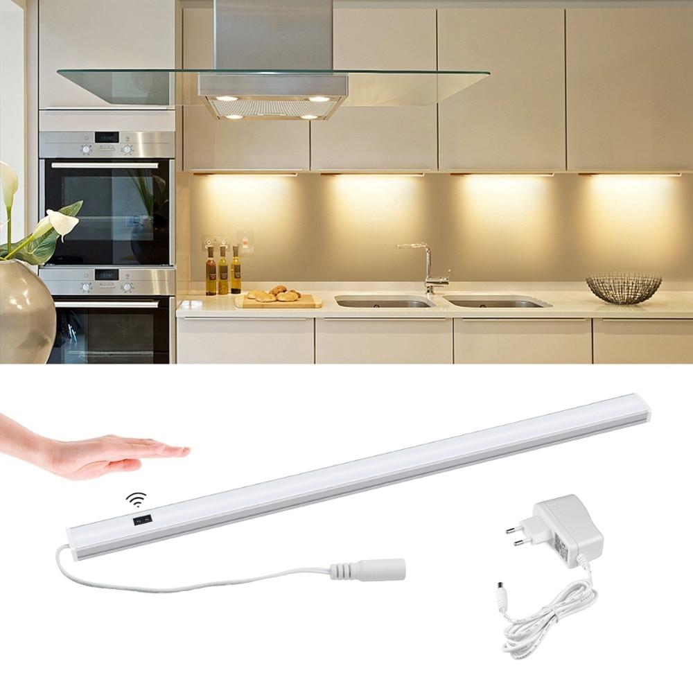 hand sensor led kitchen light hand wave sweep under cabinet light led rigid strip bar light for closet wardrobe home decor light