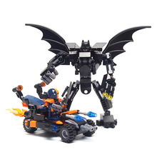 Super Heroes DC Minifigures Batman mecha Deadpool Deathstroke Building Blocks Compatible legoed Model Bricks Toys Children