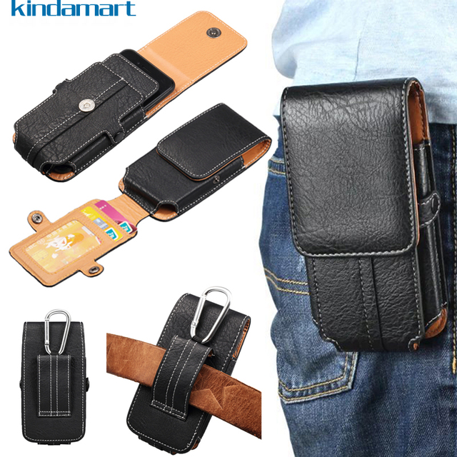 new style 3e94d c48c9 US $7.59 5% OFF|For iPhone X Case Utility Belt Clip Waist Bags Card Holder  Leather Pouch Cover For iPhone X 6 6S 7 8 Plus Holster Carabiner Case-in ...