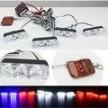 Wireless Remote 4x3/led Ambulance Police light DC 12V Strobe Warning light for Car Truck Emergency Light Flashing Firemen Lights