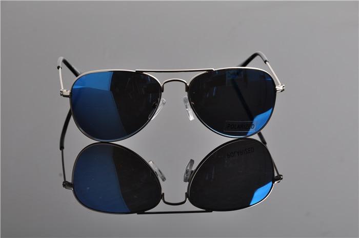 Детская UV400 поляризованные со специальным покрытием для гонок солнечные Горячие модная детская одежда пилота зеркала солнцезащитные очки с Чехол Ткань EV0831 - Цвет линз: blue lens