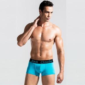 Image 2 - Lot de 10 Boxer de marque pour hommes, caleçons de marque, Modal, Cueca, sous vêtements hommes 10 pièces
