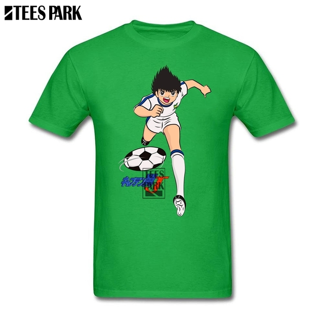 e54900d2b Grey Shirt Men Captain Tsubasa Oliver Atom Plain T Shirts Anime Shirt  Comfort Man T shirt Design Shop