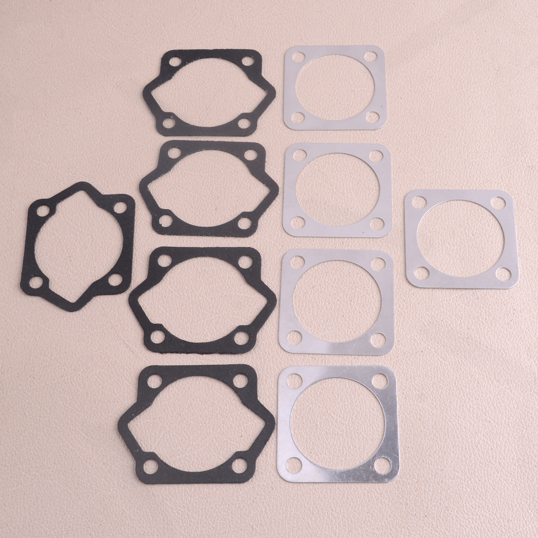 LETAOSK New 5 Sets 47mm Cylinder Head Bottom Engine Gasket Kit For 2 Stroke 80cc Motorized Bicycle