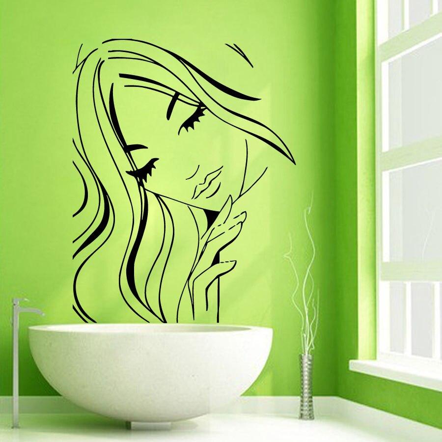 Wall Decals Girl Beauty Salon People Vinyl Sticker Murals Wall